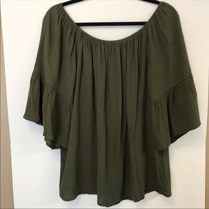 NWT Sanctuary Off The Shoulder Bell Sleeve Blouse